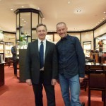 "Rudi Albers and me today in the ""old"" Wempe-store at The Peninsula Hotel at 5th Avenue"