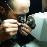 ... when you see the magnifying glass you can imagine how small the component is ...
