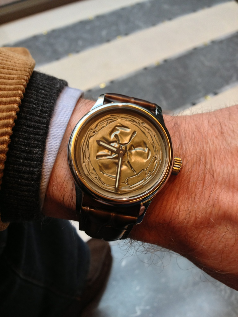 www.watch insider.com | news  | Seen on the wrist of Peter Braun, a renowned international watch journalist | 20121121 094021
