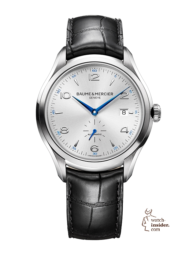 "Baume & Mercier ""Clifton"". The brand will launch a new collection at the SIHH. Please see also my interview with CEO Alain Zimmermann."