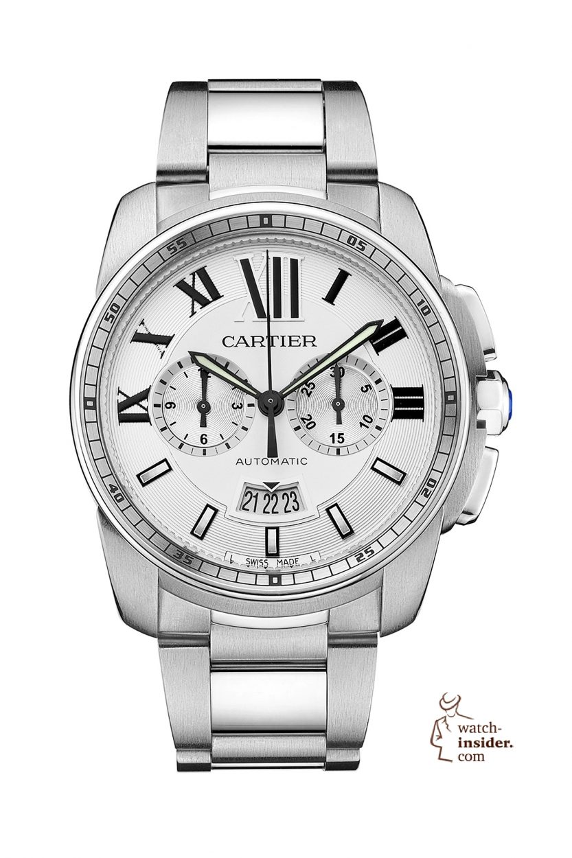 "Cartier ""Calibre de Cartier Chronograph"". New chronograph with an in-house movement called ""1904-CH MC""."
