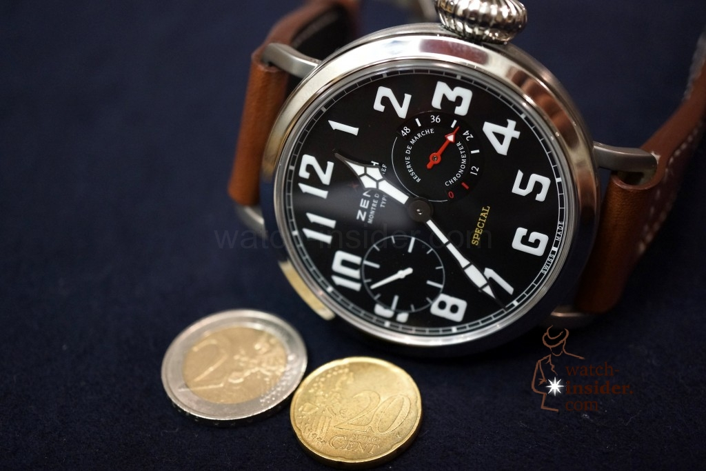 www.watch insider.com | videos reportages  | Hands on the Zenith Pilot Montre d'Aéronef Type 20 | DSC0662 1024x683
