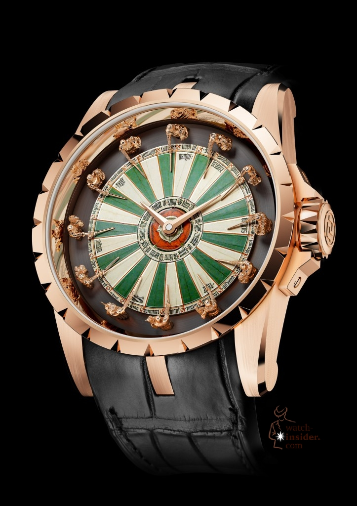 "Roger Dubuis ""Excalibur Table Ronde"": The new artwork with the in-house movement ""RD 822"" is limited to 88 pieces."