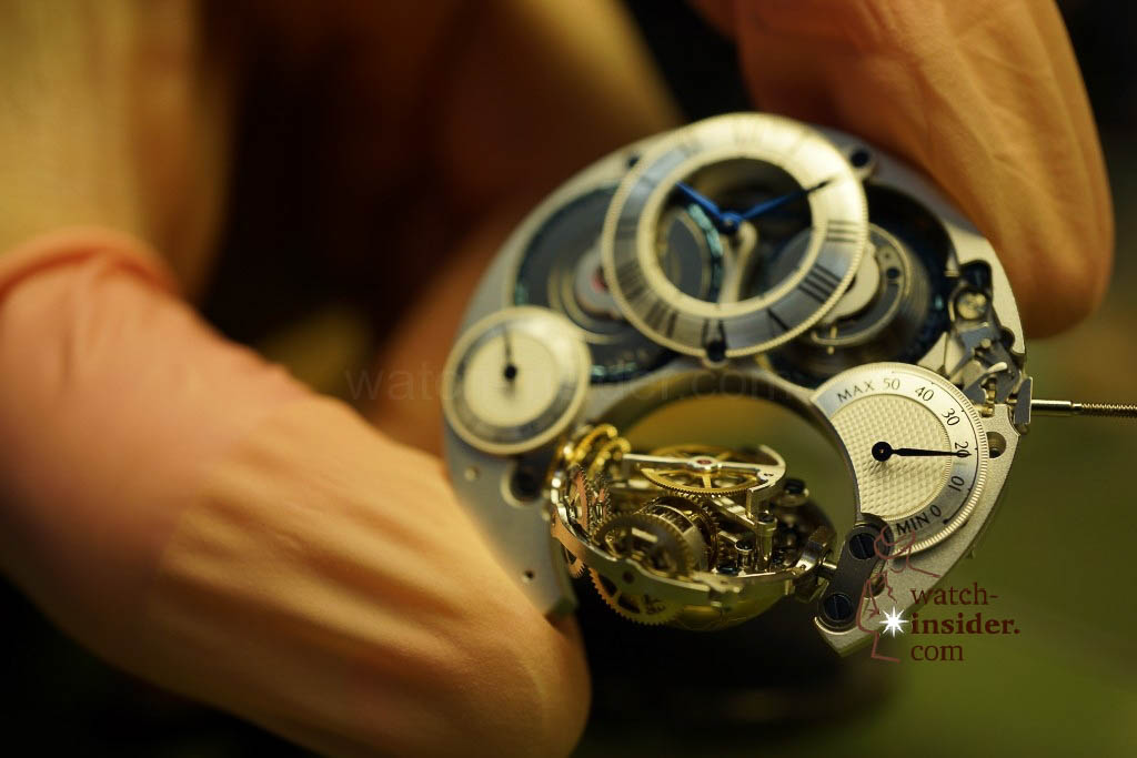 … the watch escapement is always kept in a horizontal position …