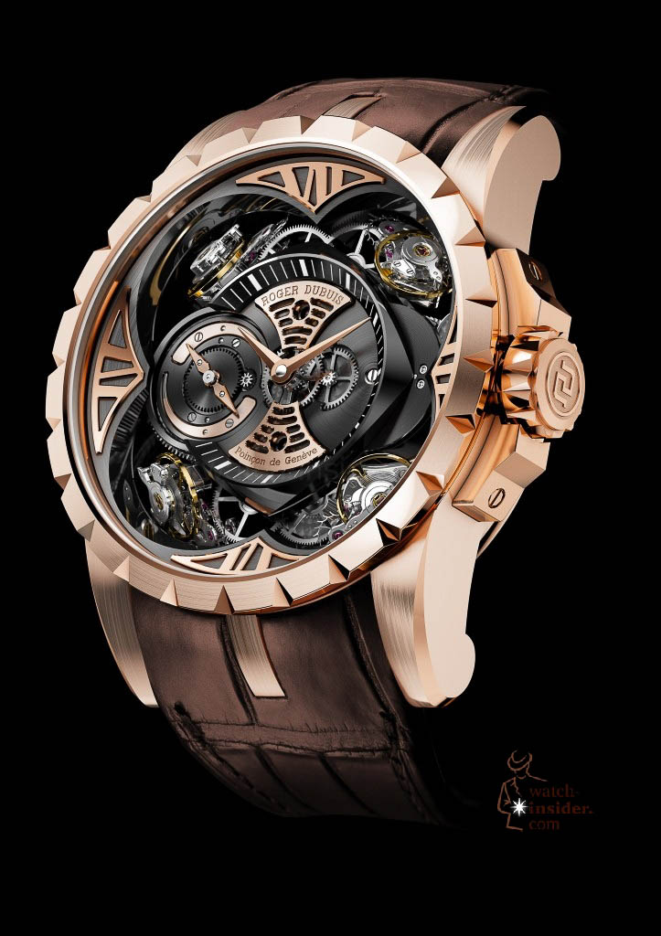 www.watch insider.com | news  | This is a Pre SIHH watch insider.com exclusive look at the Roger Dubuis Excalibur Quatuor | 1 DBEX0367 EX48 101 pressprint v03 723x1024