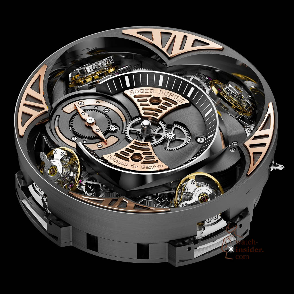 www.watch insider.com | news  | This is a Pre SIHH watch insider.com exclusive look at the Roger Dubuis Excalibur Quatuor | 3 pressprint RD101 persp front 1024x1024