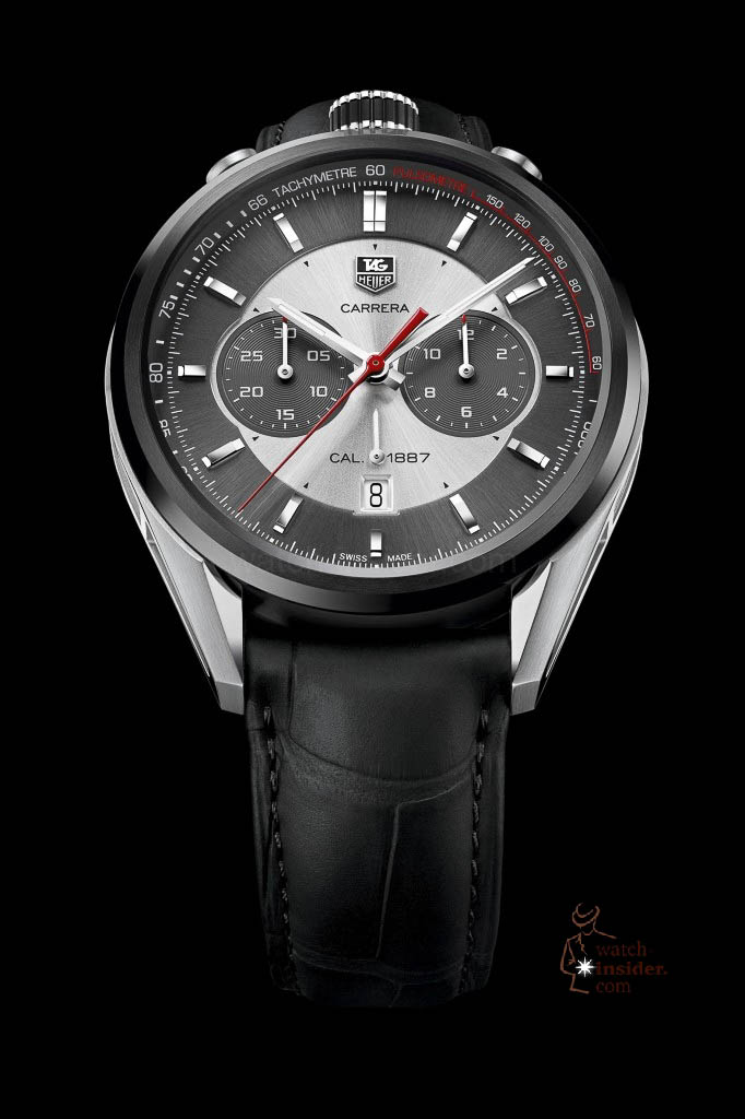 www.watch insider.com | reportages news  | In Geneva TAG Heuer presented the lightweight Carrera Carbon Calibre 1887 Concept Chronograph and its little brother | 4 TAG Heuer CARRERA CALIBRE 1887 JACK HEUER EDITION 45MM CAR2C11.FC6327 682x1024