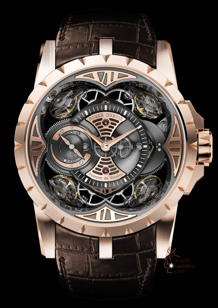 www.watch insider.com | news  | This is a Pre SIHH watch insider.com exclusive look at the Roger Dubuis Excalibur Quatuor | DBEX0367 EX48 101 pressprint v01 723x1024
