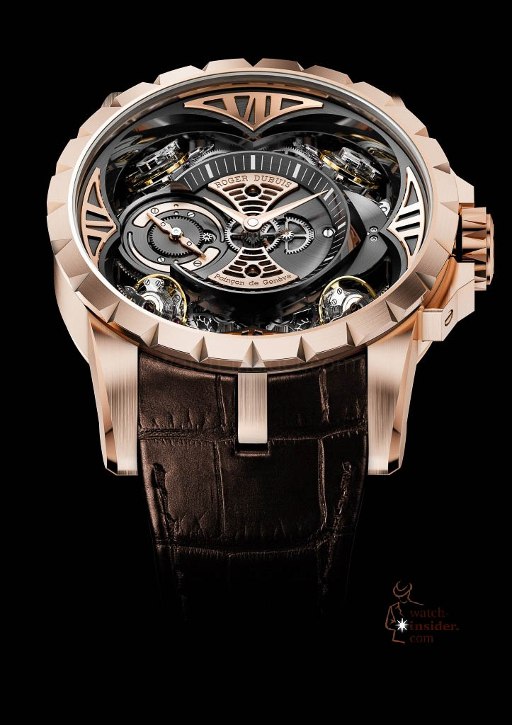 www.watch insider.com | news  | This is a Pre SIHH watch insider.com exclusive look at the Roger Dubuis Excalibur Quatuor | DBEX0367 EX48 101 pressprint v04 723x1024