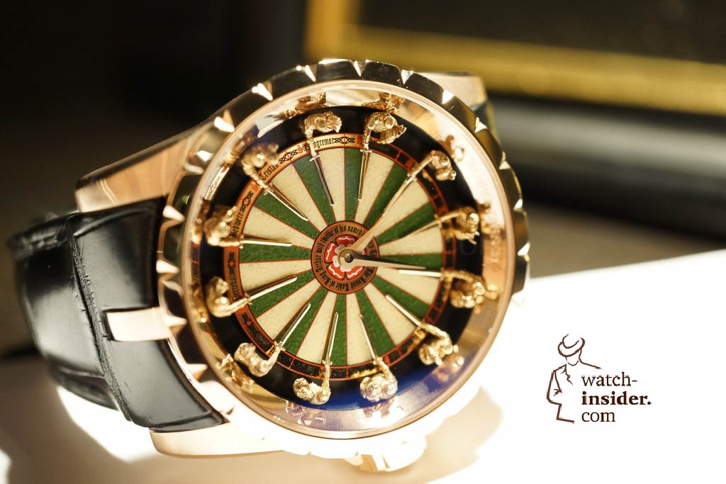 www.watch insider.com | reportages news  | Here comes a cool video and cool pictures! Jean Marc Pontroué, CEO Roger Dubuis, showing me the Excalibur Quatuor.  | DSC1644 1024x683