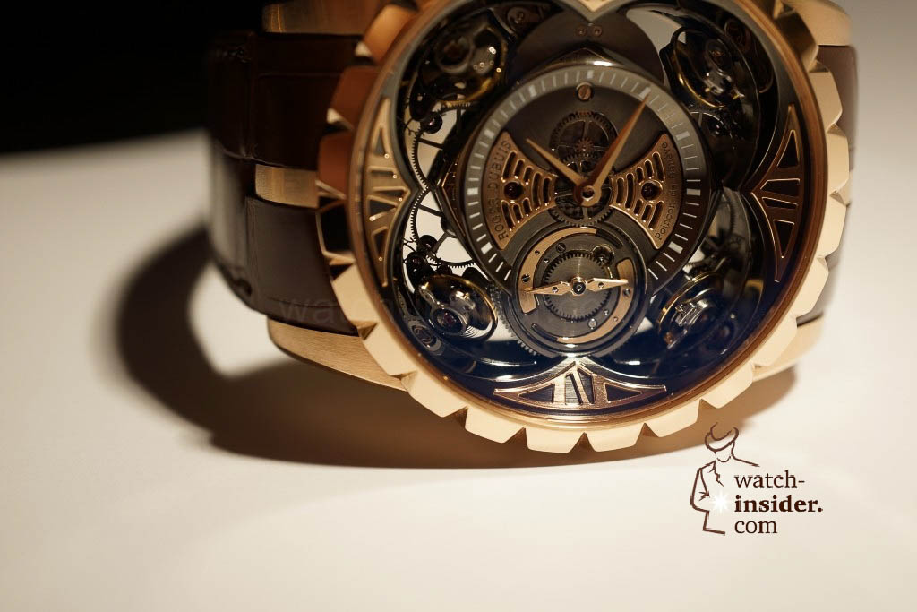 www.watch insider.com | reportages news  | Here comes a cool video and cool pictures! Jean Marc Pontroué, CEO Roger Dubuis, showing me the Excalibur Quatuor.  | DSC1661 1024x683