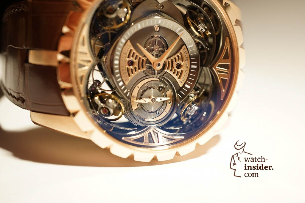 www.watch insider.com | reportages news  | Here comes a cool video and cool pictures! Jean Marc Pontroué, CEO Roger Dubuis, showing me the Excalibur Quatuor.  | DSC1663 1024x683
