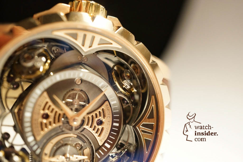 www.watch insider.com | reportages news  | Here comes a cool video and cool pictures! Jean Marc Pontroué, CEO Roger Dubuis, showing me the Excalibur Quatuor.  | DSC1664 1024x683
