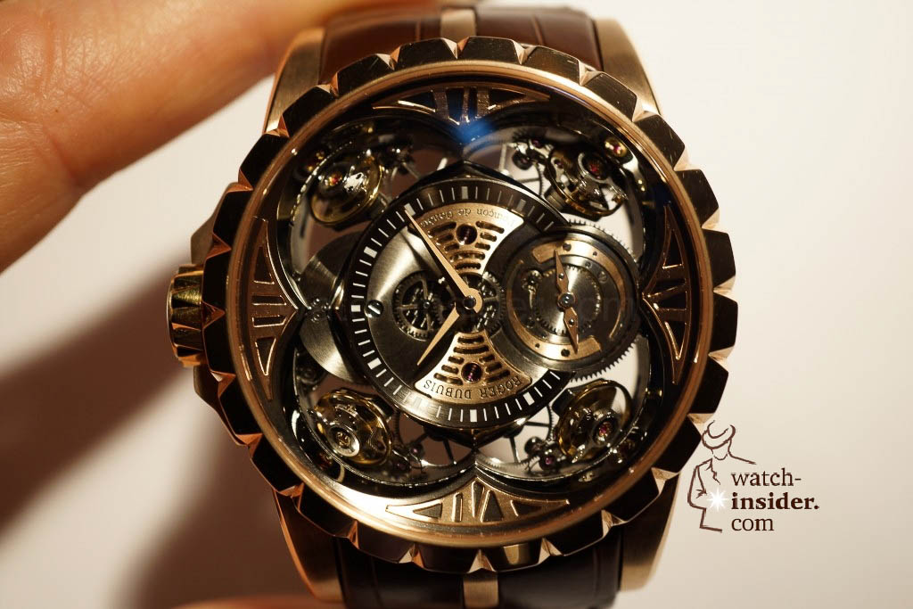www.watch insider.com | reportages news  | Here comes a cool video and cool pictures! Jean Marc Pontroué, CEO Roger Dubuis, showing me the Excalibur Quatuor.  | DSC1668 1024x683