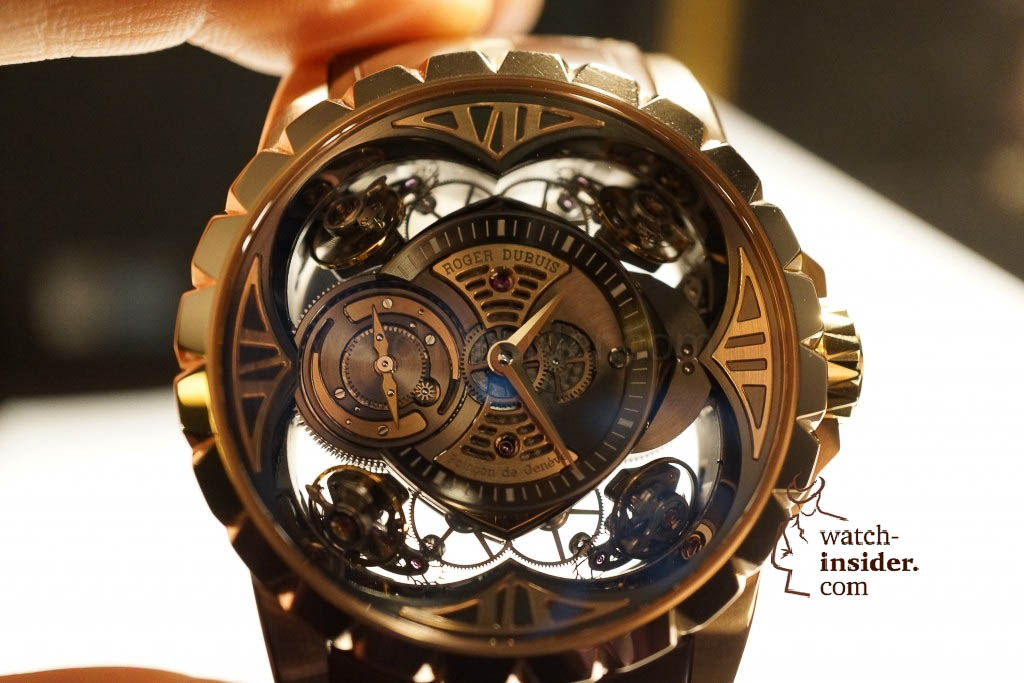 www.watch insider.com | reportages news  | Here comes a cool video and cool pictures! Jean Marc Pontroué, CEO Roger Dubuis, showing me the Excalibur Quatuor.  | DSC1670 1024x683