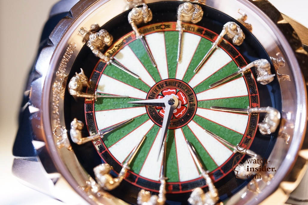 www.watch insider.com | reportages news  | Here comes a cool video and cool pictures! Jean Marc Pontroué, CEO Roger Dubuis, showing me the Excalibur Quatuor.  | DSC1690 1024x683