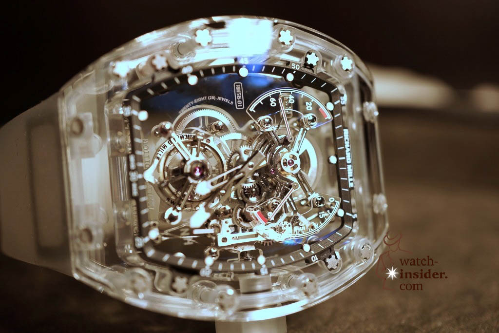 www.watch insider.com | reportages news  | THE TOURBILLON RICHARD MILLE RM 56 01 SAPPHIRE  | DSC1784 1024x683
