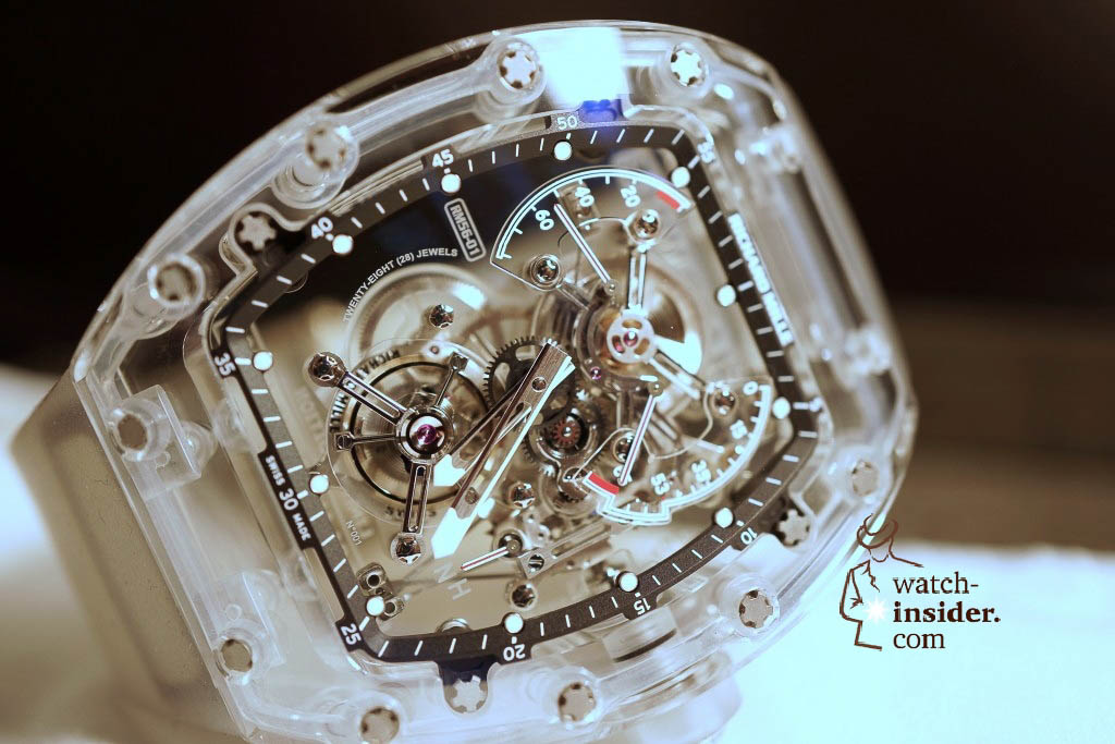 www.watch insider.com | reportages news  | THE TOURBILLON RICHARD MILLE RM 56 01 SAPPHIRE  | DSC1785 1024x683