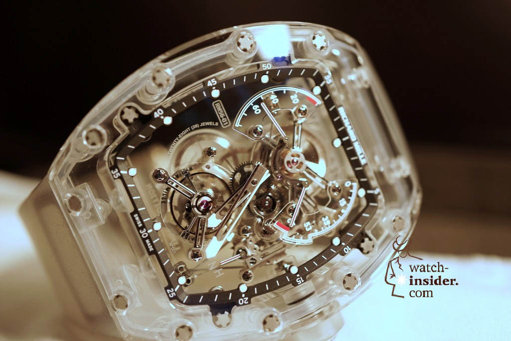 www.watch insider.com | reportages news  | THE TOURBILLON RICHARD MILLE RM 56 01 SAPPHIRE  | DSC1787 1024x683
