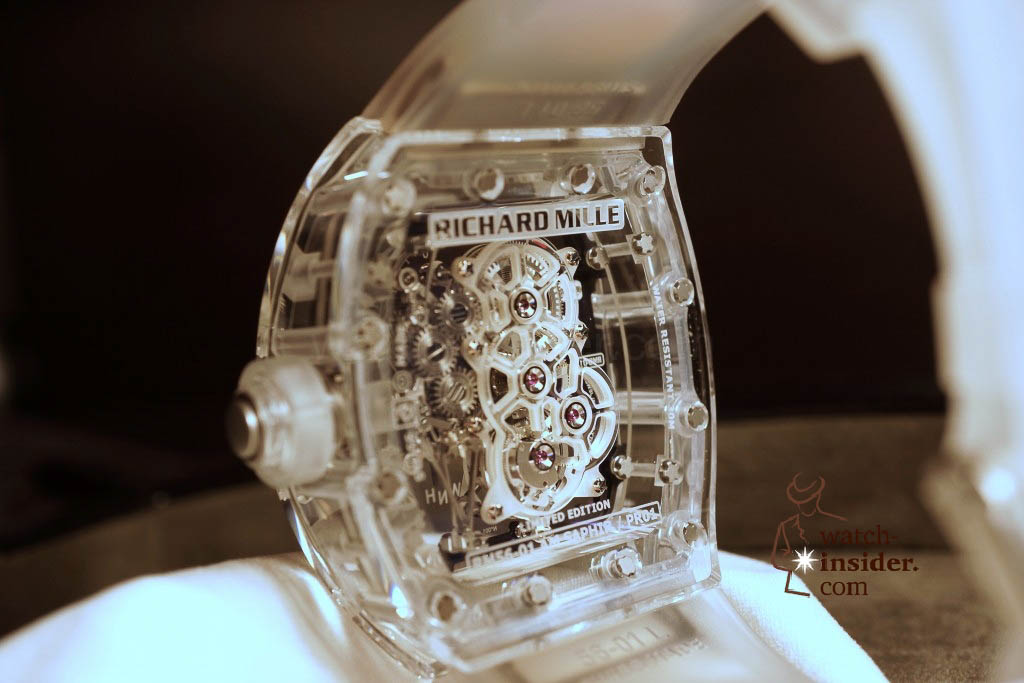www.watch insider.com | reportages news  | THE TOURBILLON RICHARD MILLE RM 56 01 SAPPHIRE  | DSC1799 1024x683