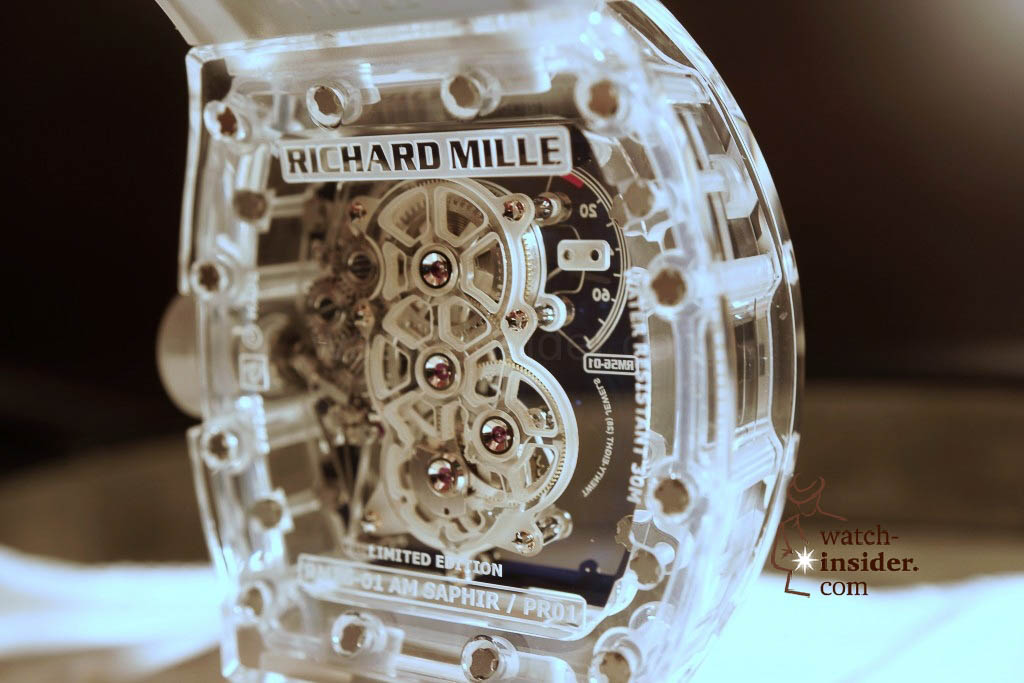www.watch insider.com | reportages news  | THE TOURBILLON RICHARD MILLE RM 56 01 SAPPHIRE  | DSC1800 1024x683