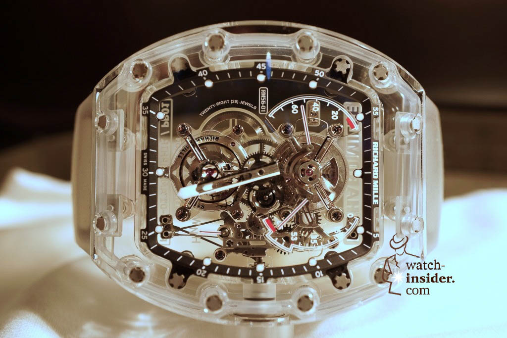 www.watch insider.com | reportages news  | THE TOURBILLON RICHARD MILLE RM 56 01 SAPPHIRE  | DSC1802 1024x683
