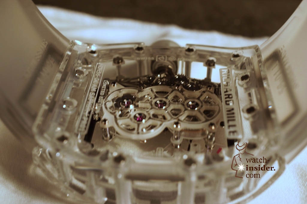 www.watch insider.com | reportages news  | THE TOURBILLON RICHARD MILLE RM 56 01 SAPPHIRE  | DSC1805 1024x683