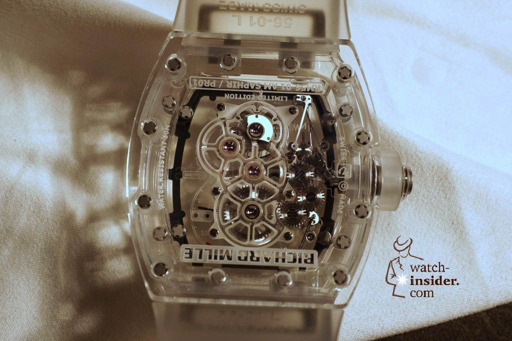 www.watch insider.com | reportages news  | THE TOURBILLON RICHARD MILLE RM 56 01 SAPPHIRE  | DSC1811 1024x683