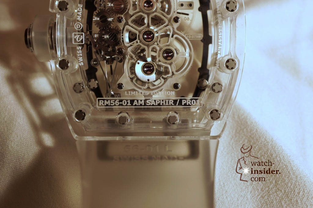 www.watch insider.com | reportages news  | THE TOURBILLON RICHARD MILLE RM 56 01 SAPPHIRE  | DSC1814 1024x683