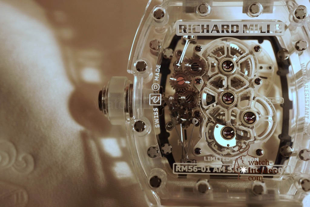 www.watch insider.com | reportages news  | THE TOURBILLON RICHARD MILLE RM 56 01 SAPPHIRE  | DSC1815 1024x683