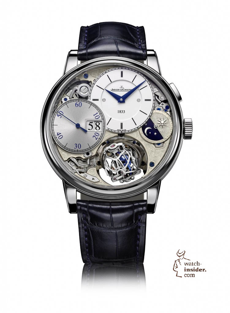 www.watch insider.com | news  | More detailed information about and some more pictures from the Jaeger LeCoultre Master Grande Tradition Gyrotourbillon 3 Jubilee | Gyrotourbillon3 FB 751x1024
