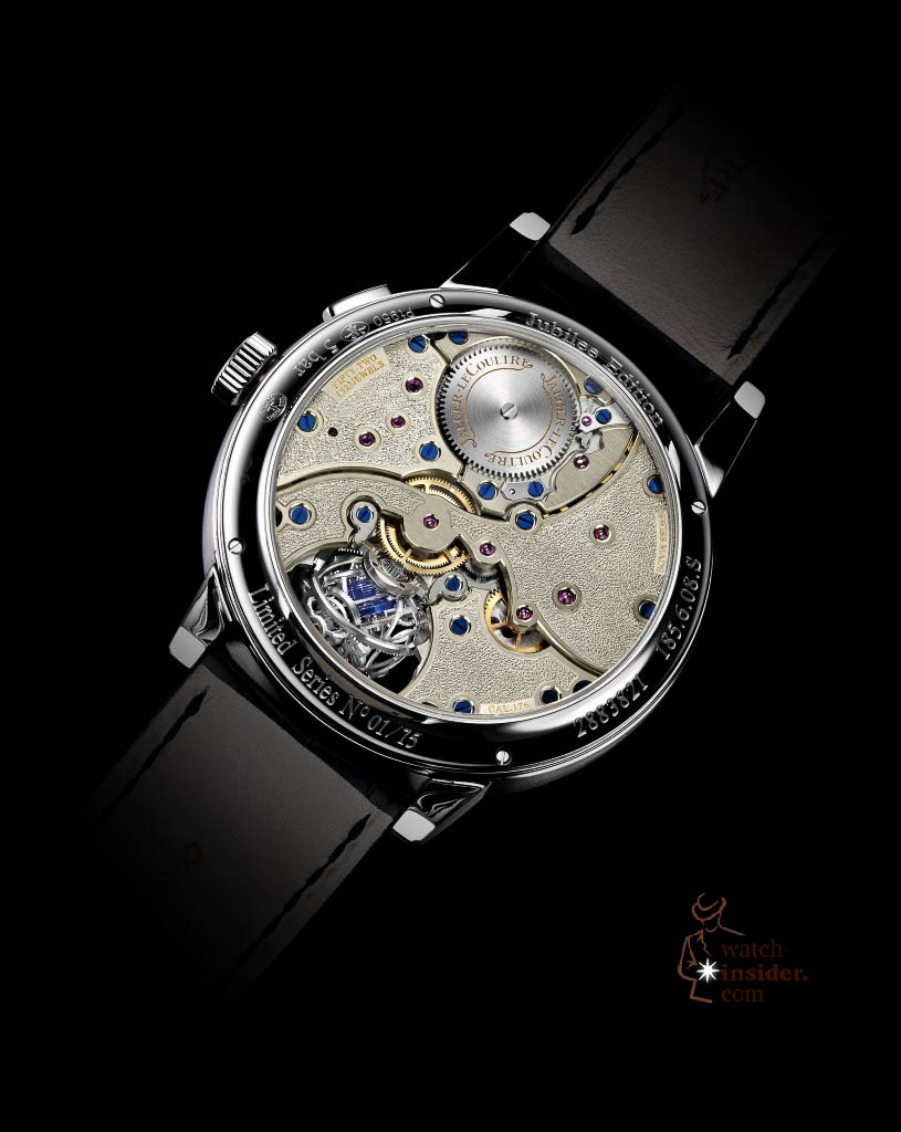 www.watch insider.com | news  | More detailed information about and some more pictures from the Jaeger LeCoultre Master Grande Tradition Gyrotourbillon 3 Jubilee | Gyrotourbillon3 verso 815x1024