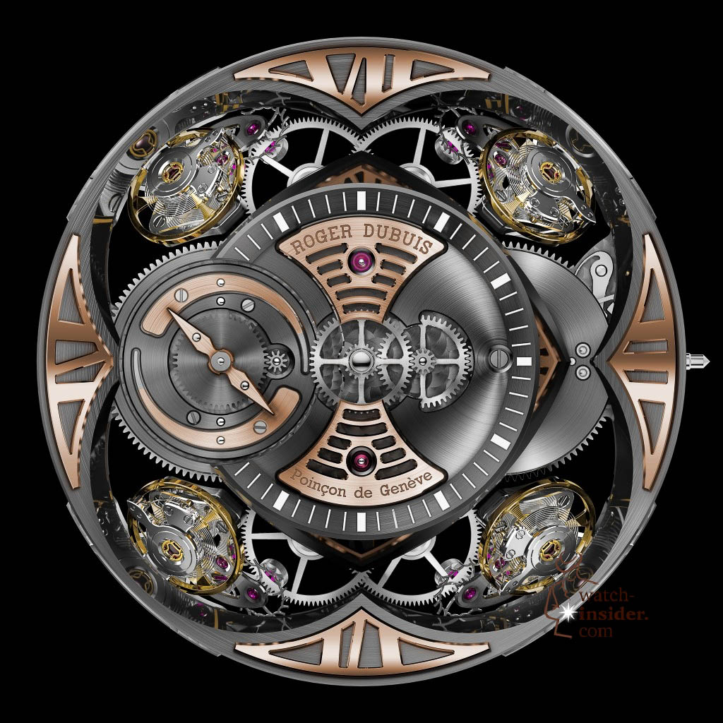 www.watch insider.com | news  | This is a Pre SIHH watch insider.com exclusive look at the Roger Dubuis Excalibur Quatuor | pressprint RD101 front 1024x1024