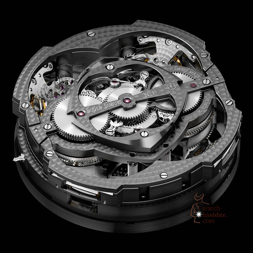 www.watch insider.com | news  | This is a Pre SIHH watch insider.com exclusive look at the Roger Dubuis Excalibur Quatuor | pressprint RD101 persp back 1024x1024