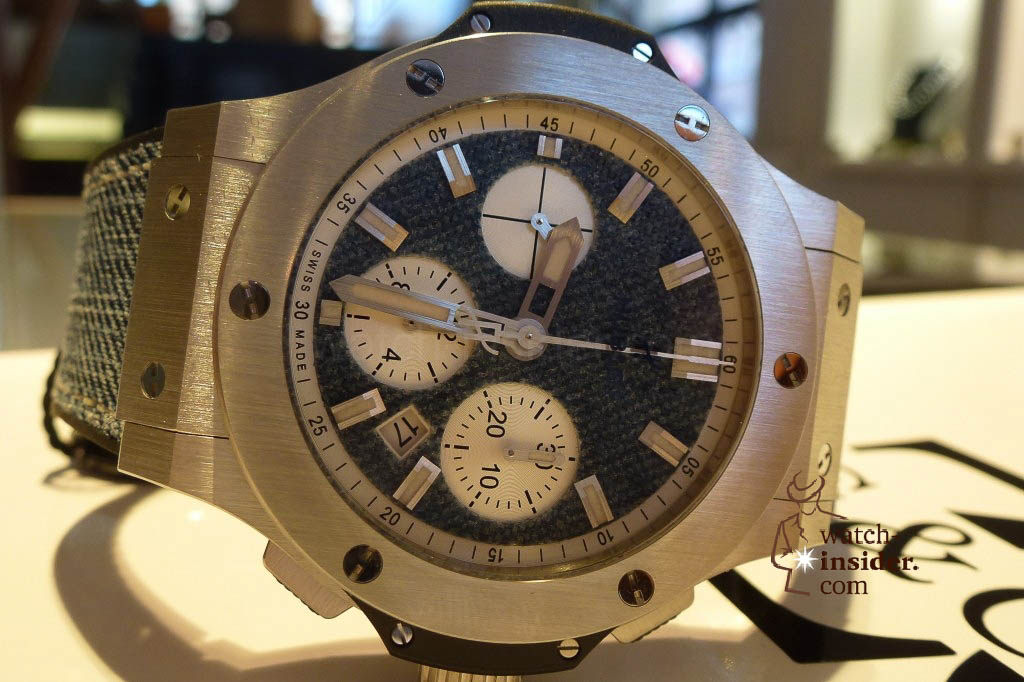 www.watch insider.com | reportages news  | The Hublot Jeans Collection   first live taken pictures | 20130218 175046 1024x682