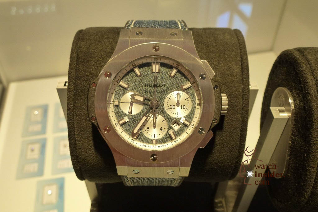 www.watch insider.com | reportages news  | The Hublot Jeans Collection   first live taken pictures | 20130218 175532 1024x682
