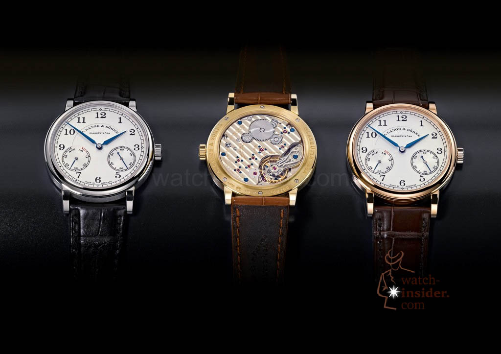 www.watch insider.com | reportages news  | The A. Lange & Söhne Boutique Tour 2013. See and touch the novelties just presented at the SIHH | ALS 234 021 026 RS 032 3erGruppe SIHH 2013 A6 1024x723