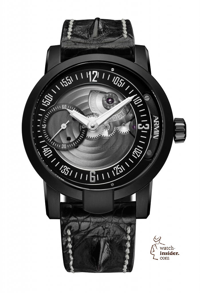 www.watch insider.com | reportages  | Black is beautiful! Black is still a dominant colour used for watch design. Tell me which one is your personal favorite | Armin Strom MANUAL EARTH 698x1024