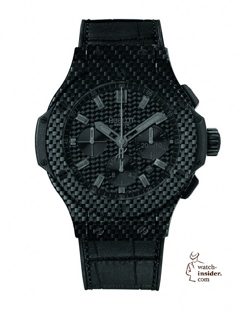 www.watch insider.com | reportages  | Black is beautiful! Black is still a dominant colour used for watch design. Tell me which one is your personal favorite | Hublot Big Bang All Carbon 796x1024