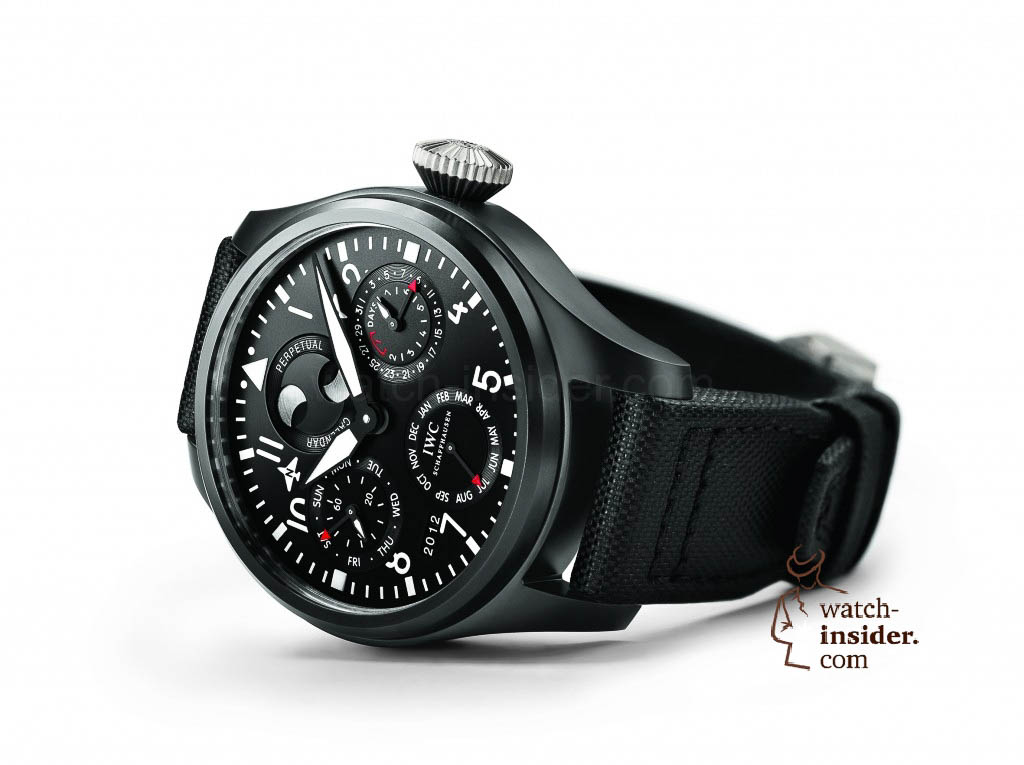 www.watch insider.com | reportages  | Black is beautiful! Black is still a dominant colour used for watch design. Tell me which one is your personal favorite | IWC Big Pilots Watch Perpetual Calendar TOP GUN1 1024x765