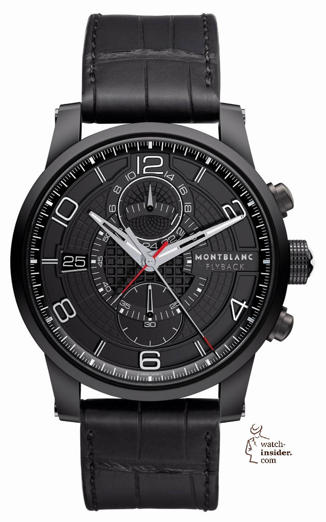 www.watch insider.com | reportages  | Black is beautiful! Black is still a dominant colour used for watch design. Tell me which one is your personal favorite | Montblanc TimeWalker TwinFly Chronograph 639x1024