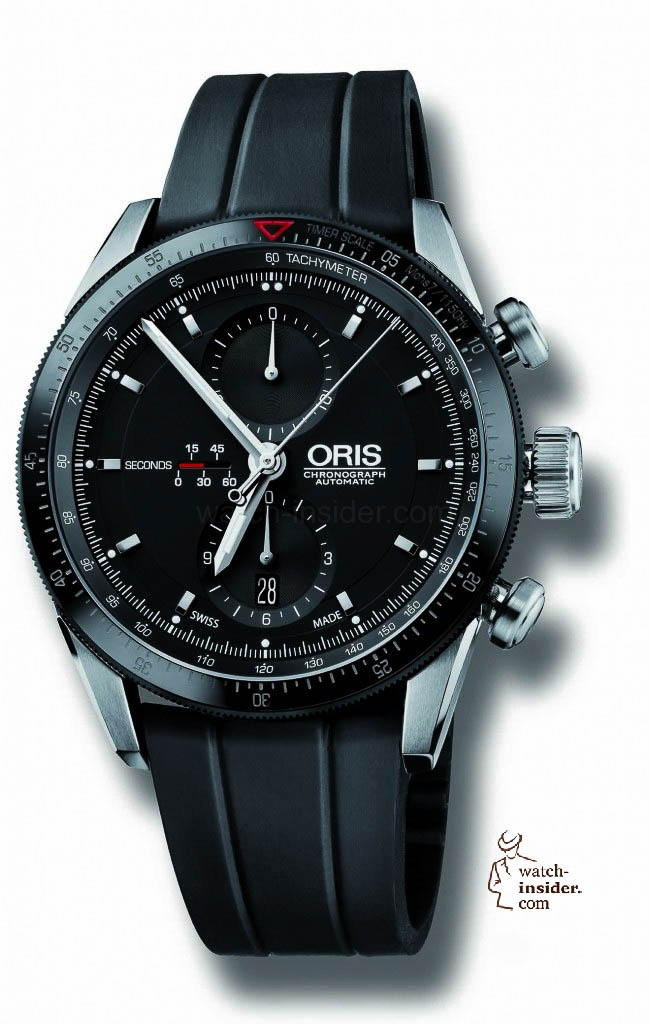www.watch insider.com | reportages  | Black is beautiful! Black is still a dominant colour used for watch design. Tell me which one is your personal favorite | Oris Artix GT Chronograph 649x1024