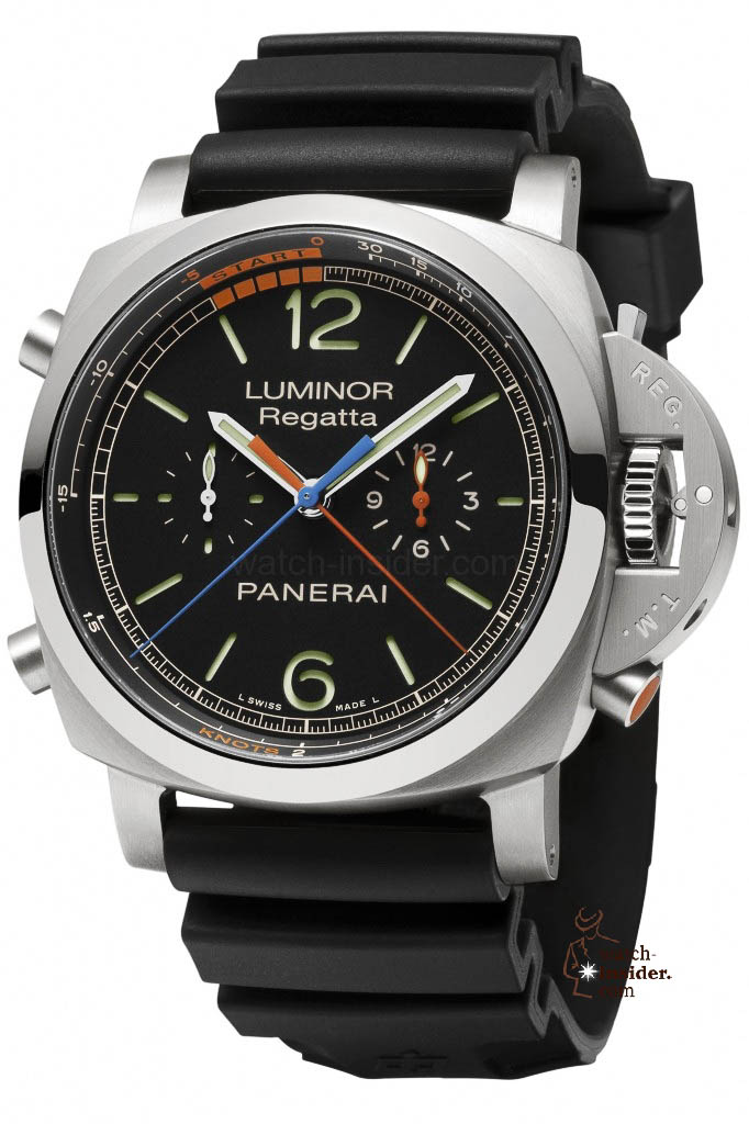 www.watch insider.com | reportages  | Discover my personal ten favorite watches from the SIHH 2013 in Geneva | Panerai LUMINOR 1950 REGATTA 3 DAYS CHRONO FLYBACK TITANIO 47mm PAM00526 682x1024