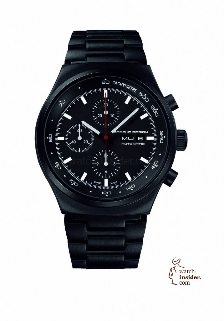 www.watch insider.com | reportages  | Black is beautiful! Black is still a dominant colour used for watch design. Tell me which one is your personal favorite | Porsche Design Heritage Chrono 716x1024