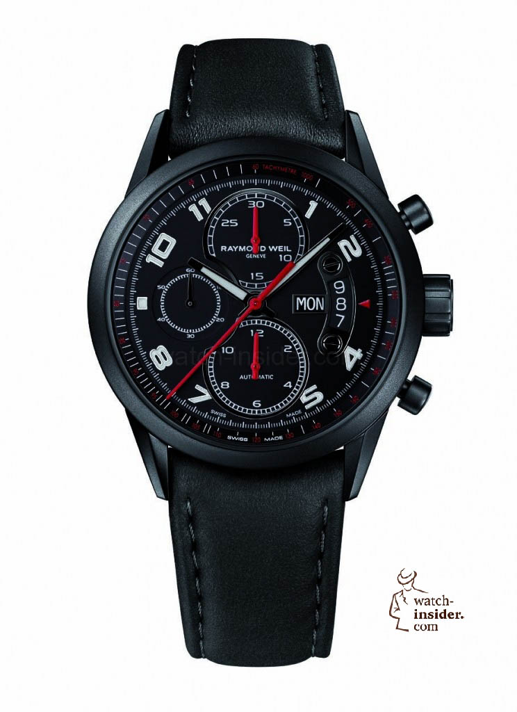 www.watch insider.com | reportages  | Black is beautiful! Black is still a dominant colour used for watch design. Tell me which one is your personal favorite | Raymond Weil FREELANCER 744x1024