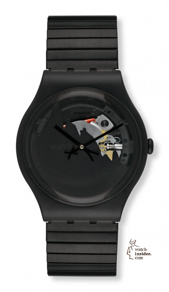 www.watch insider.com | reportages  | Black is beautiful! Black is still a dominant colour used for watch design. Tell me which one is your personal favorite | Swatch HIGH WONDER by Xavier de le Rue 593x1024