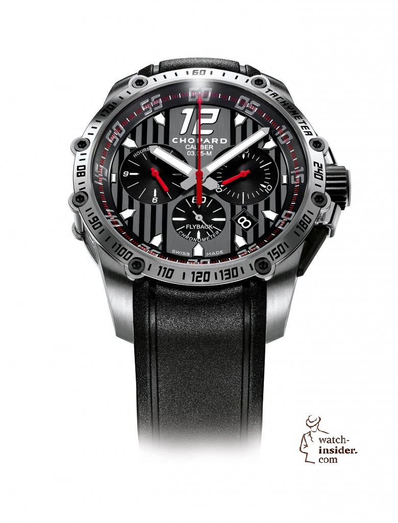 www.watch insider.com | news  | This is a brief outlook for the Baselworld 2013. I invite you to discover my first Basel preview. | Chopard Superfast Chrono steel 780x1024