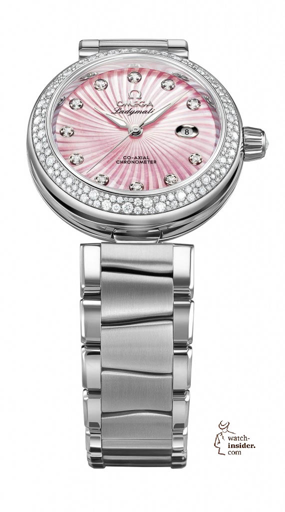 www.watch insider.com | news  | This is a brief outlook for the Baselworld 2013. I invite you to discover my first Basel preview. | Omega Ladymatic pink MOP 425.35.34.20.57.001 frei red 571x1024