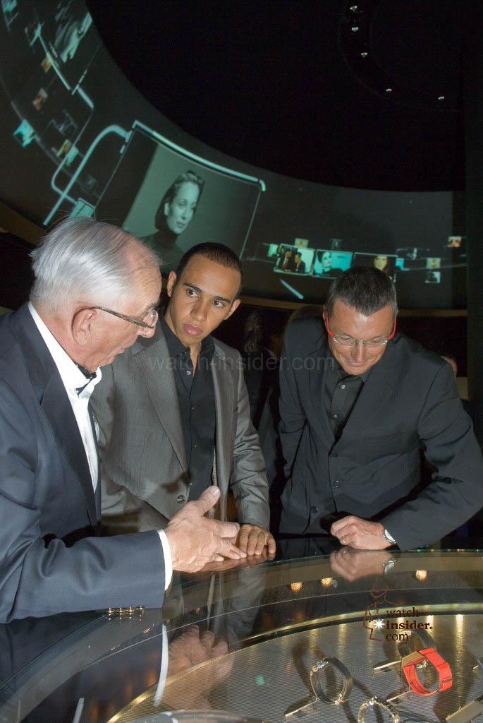 www.watch insider.com   reportages    TAG Heuer – 50 years of Carrera   TAGHeuer 0033 Jack Heuer L Hamilton JC Babin1 685x1024