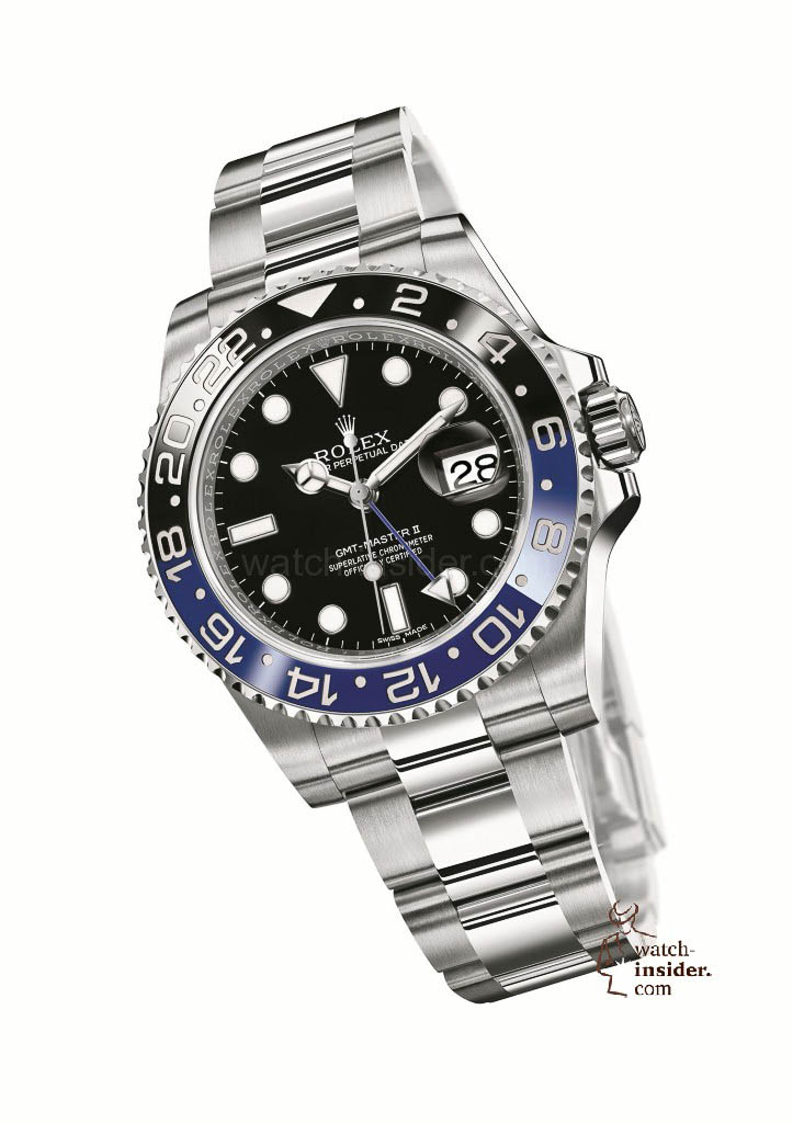 www.watch insider.com | reportages news  | After SIHH and Baselworld, what are the most looked for and wanted wristwatch novelties 2013? | 04 GMT Master II 904L steel 723x1024